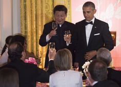 PRESIDENT BARAK OBAMA & CHINESE PRESIDENT XI JINPING @ WHITE HOUSE STAE DINNER, September 25, 2015