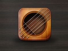 I love guitar app icon! App Icon Design, Ui Design Inspiration, Launcher Icon, Mobile App Icon, Mobile Wallpaper Android, Android Icons, Application Icon, Mobile Ui Design, Iphone Icon