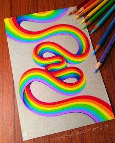 Rainbow Ribbon by dannii-jo - - # drawings- Rainbow Ribbon von dannii-jo – – Rainbow Ribbon by dannii-jo – – - Rainbow Drawing, Rainbow Painting, Rainbow Art, Rainbow Colors, Crayon Painting, Rainbow Pastel, Rainbow Cupcakes, Rainbow Crafts, Crayon Art