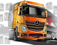 MD Facelift Project - New Atron 2012 on Behance Mercedes Benz Trucks, Mercedes Car, Western Union Money Transfer, Truck Design, Transportation Design, Classic Trucks, Automotive Design, Big Trucks, Design Model