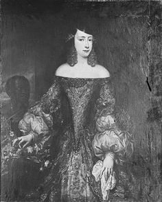 Portrait of the princess of Villahermosa (possibly by Velazquez). The original painting wasdamaged severely by fire during WWII.