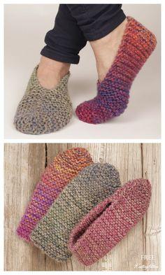 Beginner Knitting Patterns, Crochet Stitches Free, Sweater Knitting Patterns, Knitting Stitches, Free Knitting, Knitting Socks, Knit Patterns, Knit Slippers Free Pattern, Crochet Coaster Pattern