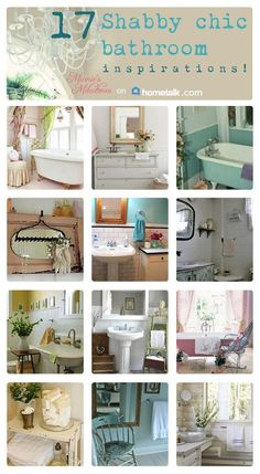 Gotta love the shabby chic look! 17 Shabby chic bathrooms to inspire you! #shabbychicbathroomsideas