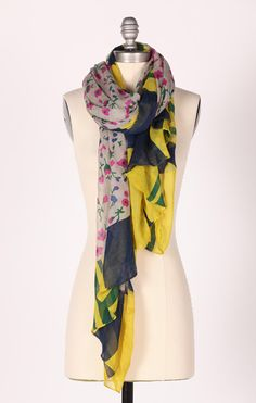 Millefleur Madness Scarf >> Beautiful! Love the colors!
