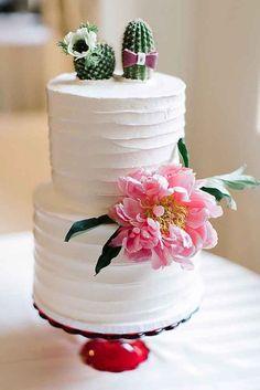 gateau de mariage cactus mexicain