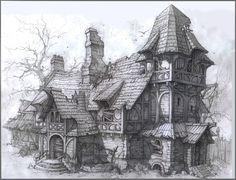 Znalezione obrazy dla zapytania fantasy house