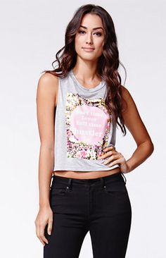 Dimepiece Floral Lover Muscle Cropped T-Shirt #pacsun my youngest.