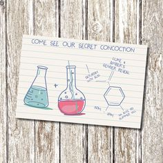 PARTY PACK - Science / Chemistry Gender Reveal  Baby Shower