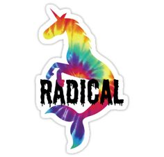 A radical unicorn mermaid. • Also buy this artwork on stickers, apparel, phone cases, and more.