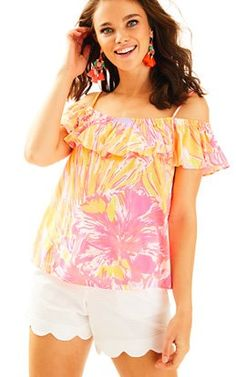 Tamiami Off The Shoulder Top In Sun Splashed: $64