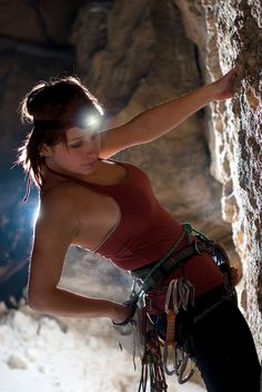 Katie Brown. Free solo / rock climber.