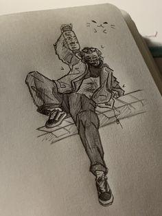 Desenho Harry Styles, Arte Grunge, One Direction Drawings, Harry Styles Drawing, Arte Sketchbook, Art Hoe, Amazing Drawings, Harry Edward Styles, Art Drawings Sketches