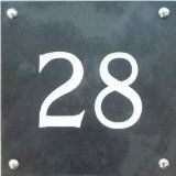 Large Engraved Black Slate house number sign - 1 to 99 available