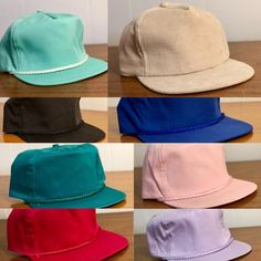 320f5ebd11f0d 80s Deadstock Blank Hats - Including Corduroy - Brand New Old Stock, Never  Worn,