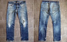 Laid Flat - Dior Homme 19cm Brut Denim (3 Years, 3 Washes)