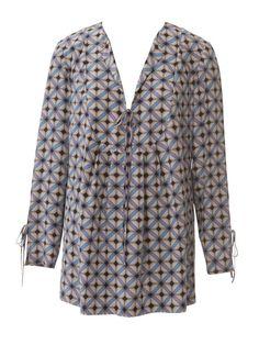 yoked tunic plus size sewing pattern