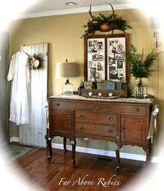 Far Above Rubies blog love how she uses nature in her decorating and old photos!