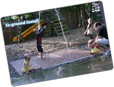 DIY splash pad for our new yard!!!!