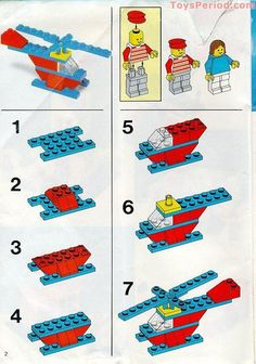 50 Easy Lego Building Project for Kids – 50 Easy Lego Building Project para niños – Lego Design, Manual Lego, Notice Lego, Legos, Bloc Lego, Lego Helicopter, Lego Therapy, Construction Lego, Lego Auto