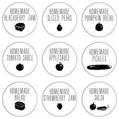 Lulu the Baker: farm fresh printable labels for tomato sauce, blackberry jam, and more!