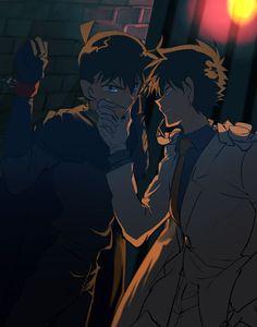 Kaito x Shinichi Magic Kaito, Anime Guys, Manga Anime, Detective Conan Shinichi, Kaito Kuroba, Detektif Conan, Detective Conan Wallpapers, Kaito Kid, Kudo Shinichi