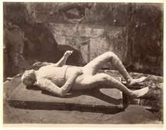 Italia, Pompei. Impronti umane     #Europe #Italia #Pompéi_Pompei