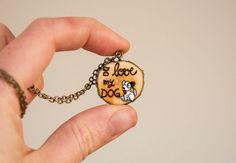 Necklace with wooden pendant from a tree branch by SilviaWithLove, €12.50