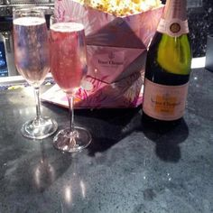 Limited edition Veuve Clicquot champagne popcorn bags #pink with the purchase of a bottle of Veuve Clicquot Rose - June 2012