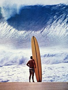 "surfsouthafrica: "" Greg Noll. Brave enough to surf massive Pipeline in the 1960s. Photo: Jon Severson "" Before we knew what was possible….."