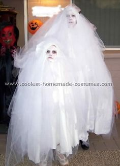 tulle teen ghost diy costume | Homemade Ghost Costume Ideas