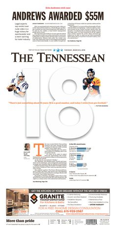 I really love the openness of this page. The Tennessean 3/8/16 via Newseum