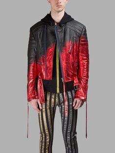 HAIDER ACKERMANN Haider Ackermann Men'S Black/Red Jacket. #haiderackermann #cloth #leather jackets
