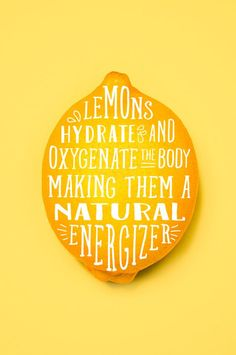 Lemons Hydrate and Oxygenate the body making them a natural energizer http://www.jorgewellness.com/21-day-weight-loss