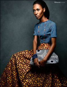 Print Culture --- Photography: Jared Pierson Wardrobe: Kachi Designs | Nsu Bura | Squiggle Pattern | Stripes | African Fashion