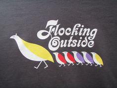 Phish Birds of a Feather lot tee shirt - silkscreened artwork - Trey, Grateful Dead, hippie, 420, lsd