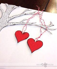 DIY árbol corazones