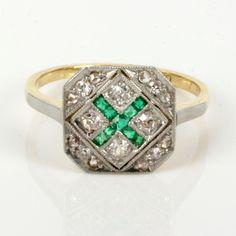 Buy Art Deco emerald & diamond ring in gold and platinum, Sold Rings ...1400 x 1400 | 199.6KB | www.kalmarantiques.com.au