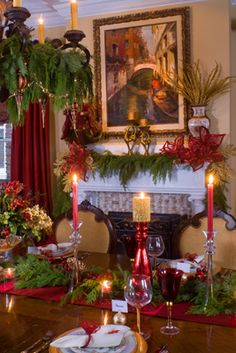 beautiful home in Richmond, Virginia decorated for the holdiays