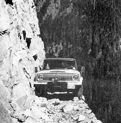 Black Bear Pass, Colorado a notorious jeep trail that starts from 11,018-foot summit of Red Mountain Pass on U.S. Highway 550 to Telluride, Colorado