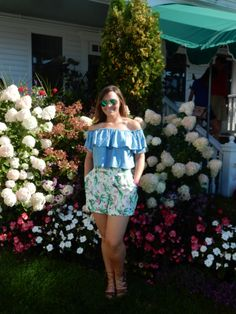 ruffled top, perfect summer outfit, sarah in style, pure michigan, sarahinstyle.com, fashion blogger, chicago blogger, windy city bloggers, mackinac island, michigan