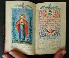 18th C HANDWRITTEN MANUSCRIPT PRAYER RELIGIOUS BOOK MINIATURE PAINTINGS ANGELS in Books, Antiquarian & Collectible | eBay