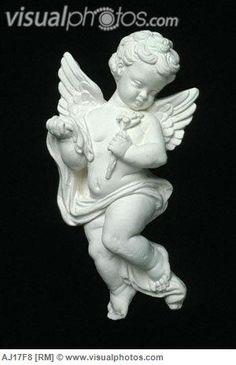 ceramic cherub | flying ceramic cherub