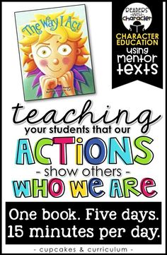 Elementary education classroom - Actions Show Others Who We Are Character Education Social Emotional Learning Elementary School Counseling, School Social Work, Elementary Schools, Career Counseling, School Counselor, Character Education Lessons, Teaching Character, Physical Education, Teaching Social Skills