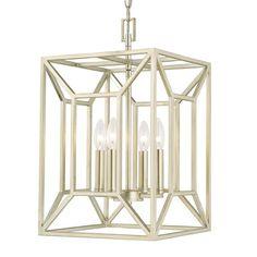 Capital Lighting Transitional 4-light Soft Gold Foyer Fixture | Overstock.com Shopping - The Best Deals on Chandeliers & Pendants