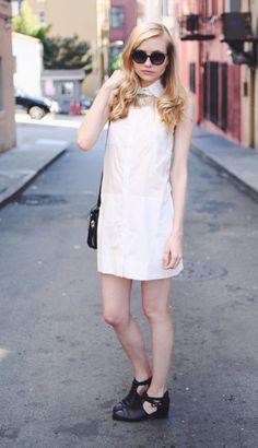 @Jessi de Bergerac  /  long legged lady  in the Amatoria Sleeveless Shirtdress