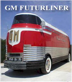 GMC Futureliner 1 of 12 built for a whopping $2 million for the 1939 Worlds Fair. Obsess Much?