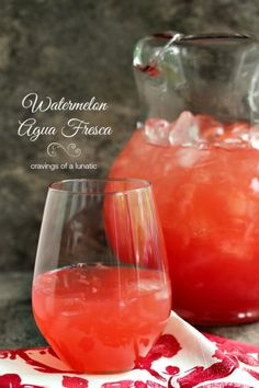 Watermelon Agua Fresca | Refreshing and easy to make. This Watermelon Agua Fresca is sure to be a hit this summer!