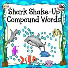 Shark Shake Up is a very exciting game to help students learn to read compound words. Students take turns choosing a card from the pile. If they pick a card and read the word correctly, they keep the card. But if they choose a card with a shark on it, they lose all cards!