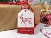 Weihnachtsgeschenkanhänger Hirsch Geschenkkärtchen Grafik Design, Christmas Presents, Paper Shopping Bag, Gift Tags, Gift Wrapping, Gifts, Decor, Paper, Beautiful Things