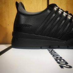 Dsquared2, Adidas Sneakers, Black Leather, Menswear, Shopping, Shoes, Fashion, Adidas Tennis Wear, Black Patent Leather